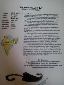 Auszug der umfangreichen Teekarte